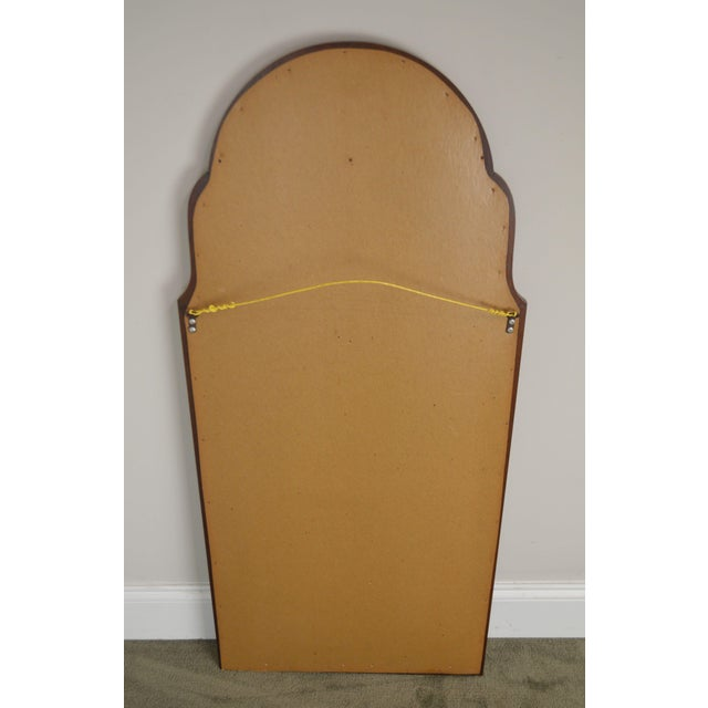 Hickory Chair Co. Pair Solid Mahogany Frame Arch Top Beveled Mirrors For Sale In Philadelphia - Image 6 of 13