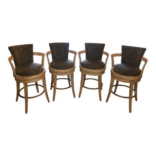 Swivel Barstools by Swaim - Set of 4