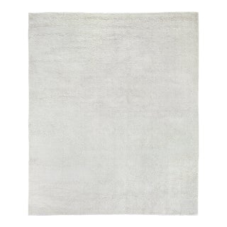 Exquisite Rugs Milton Hand Loom Viscose White - 10'x14' For Sale