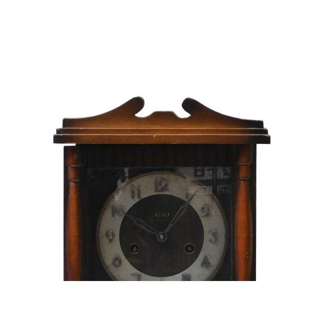 1960s Vintage Old Shanghai European Building Style Pendulum Swing Clock For Sale - Image 5 of 8
