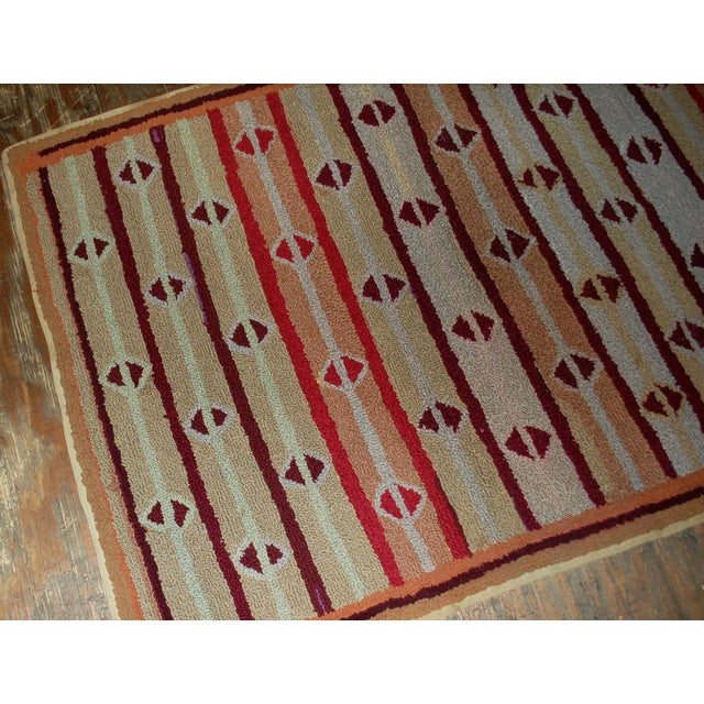 """1890s Hand Made Antique American Hooked Rug - 3'2"""" X 5'3"""" For Sale - Image 4 of 6"""