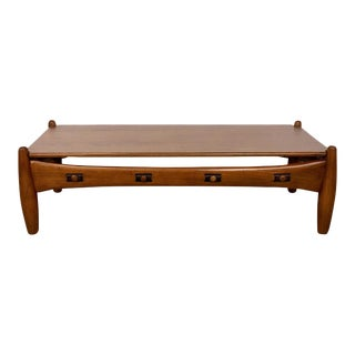 Sergio Rodrigues - Isa - Bergamo / I.s.a., Italy Sergio Rodriguez Coffee Table Isa-Bergamo Brand 1960 For Sale
