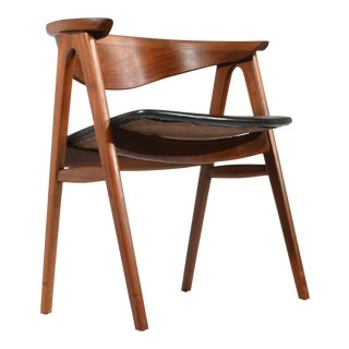 Walnut Compass Chair by Erik Kirkegaard for Høng Stolefabrik and Dux For Sale