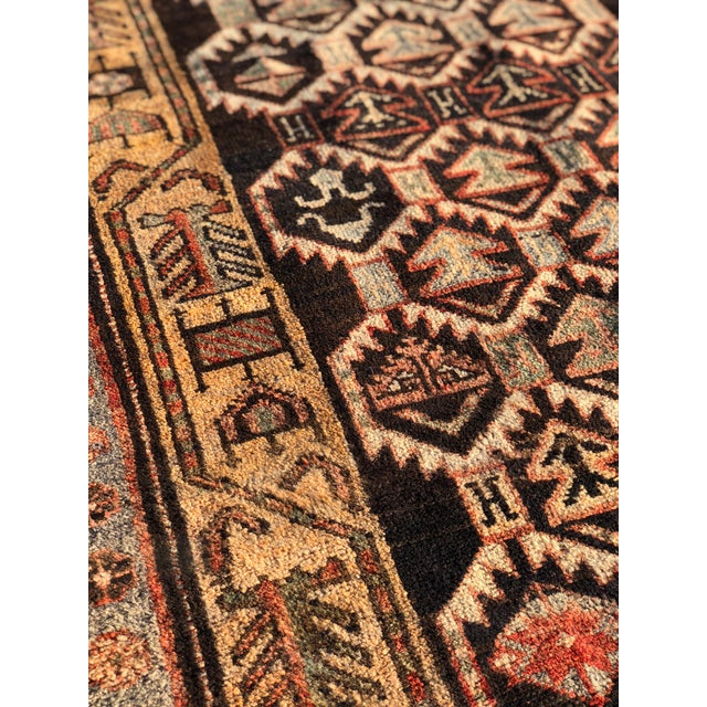 Textile 1950s Vintage Persian Meshkin Runner Rug - 3′10″ × 13′2″ For Sale - Image 7 of 13