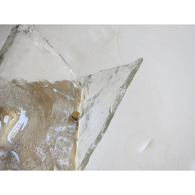 Mazzega Murano Mazzega Origami Sconces / Flush Mounts (2 Available) For Sale - Image 4 of 6