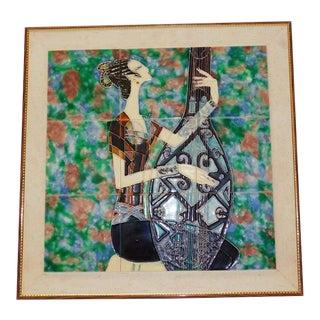 Vintage Mid-Century Modern Tile Art Att: Harris Strong For Sale
