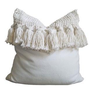 "Boho Macrame Tassel 20"" Accent Pillow"
