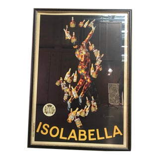 Early 20th Century Antique Leonetto Cappiello Isolabella French Framed Poster For Sale
