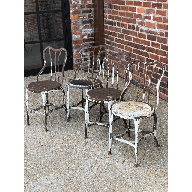 An awesome original set of Toledo Uhl Art Steel chairs. Ice cream parlor chairs original found in Maryland. They have...
