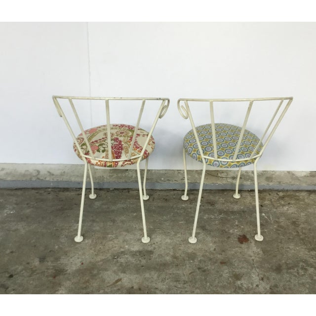 Mid-Century Painted Cast Iron Chairs - A Pair - Image 6 of 9