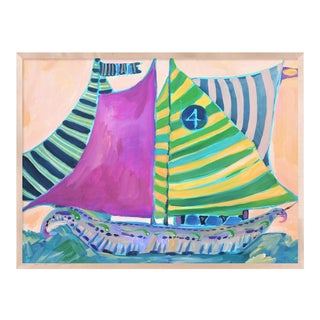 SB Staniel Cay by Lulu DK in White Framed Paper, Large Art Print For Sale