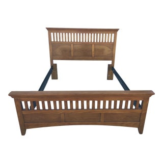 Mission Queen Oak Bedframe For Sale