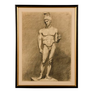 Antique French Life Drawing c.1875 For Sale