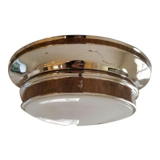 Rejuvenation Lighting Eastmoreland Flush Mount in Polished Nickel For Sale