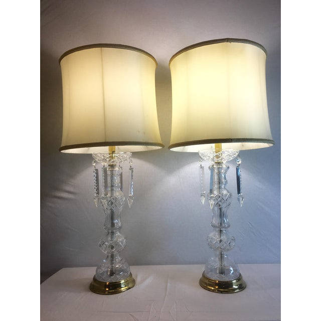 1950's Italian Lead Crystal Table Lamps - A Pair - Image 2 of 9