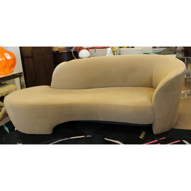 1980s Vintage Contemporary Modern Kagan for Weiman Preview Serpentine Sculptural Sofa Chaise For Sale - Image 9 of 9