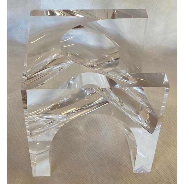 1970s Italian Alessio Tasca Lucite Sculpture For Sale - Image 9 of 11