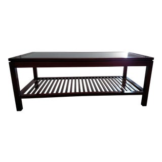 Metro Glass Top Coffee Table For Sale