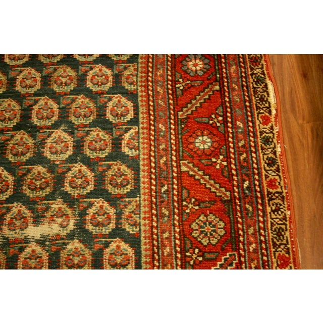 "Long Vintage Hand-Knotted Wool Rug - 13′5″ X 3'8"" - Image 6 of 11"