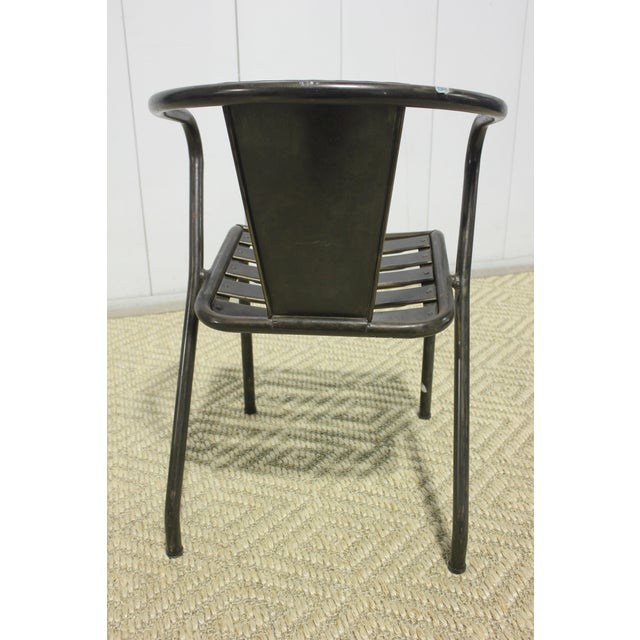 Mid-Century Modern 1960s Vintage Metal Dining Chairs- Set of 4 For Sale - Image 3 of 6