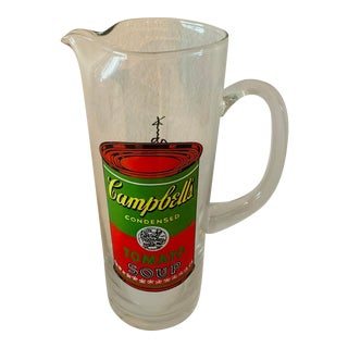 Andy Warhol Barware Campbell's Soup Martini Glass Pitcher For Sale
