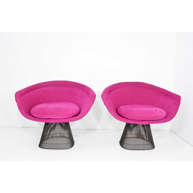 1960s Bronze Warren Platner Lounge Chairs - A Pair For Sale - Image 9 of 9