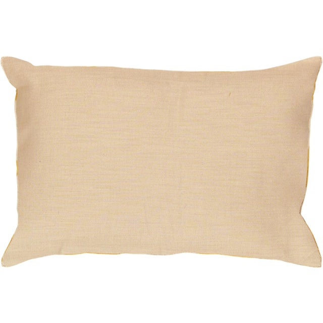 Tan & Mustard Silk Velvet Ikat Pillow - Image 2 of 2