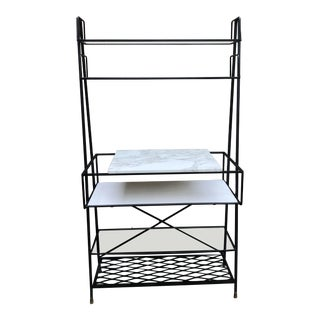 Mid-Century Modern Bar Shelf/ Bakers Rack