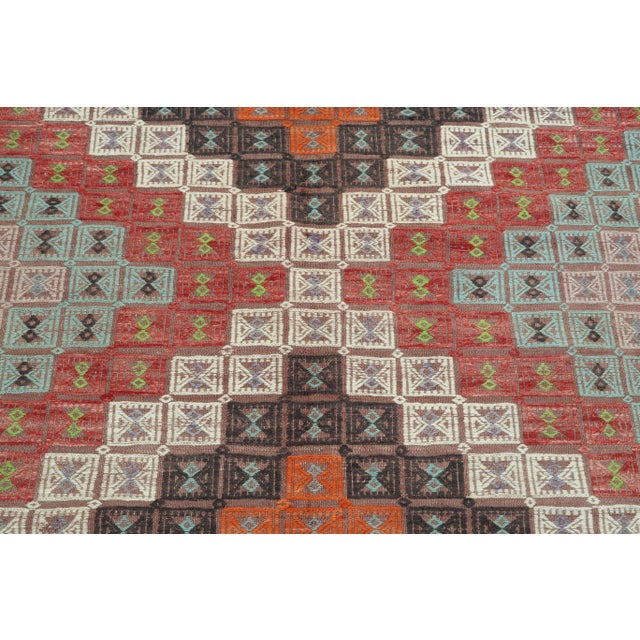 Rug & Kilim Vintage Turkish Kilim Rug-6′ × 12′8″ For Sale - Image 4 of 13