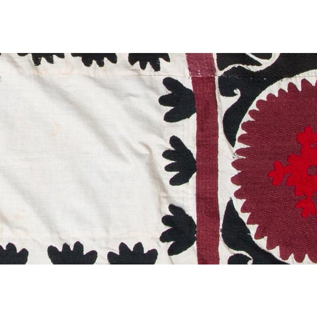 Uzbekistan creme, rose, black 100% cotton tapestry