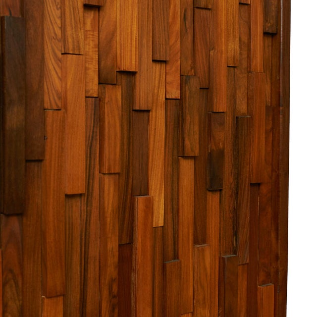 Percival Lafer Brazilian rosewood screens in the manner of Percival Lafer - a pair For Sale - Image 4 of 6