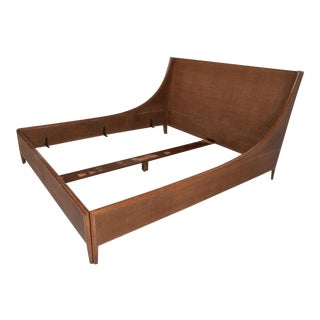 Mid Century Modern Cal King Bed Frame Designed by Barbara Barry for McGuire / Baker For Sale
