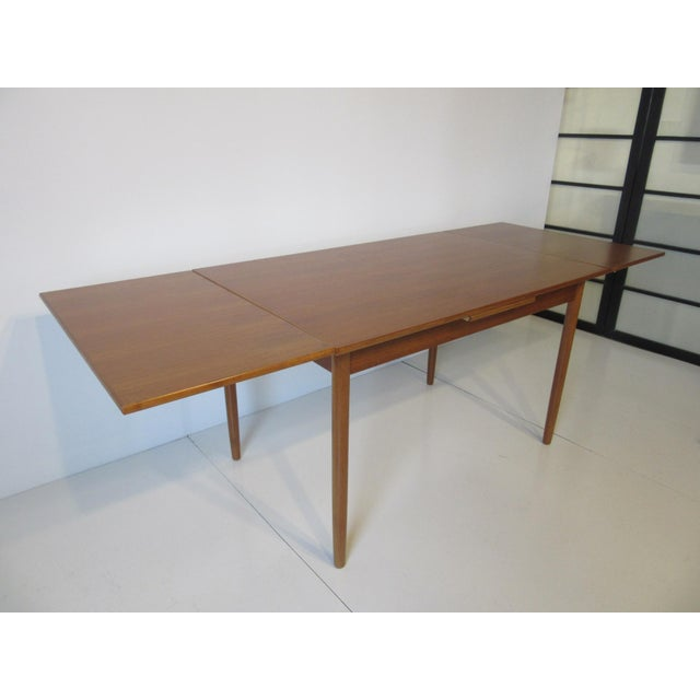 L & F Mobler Danish Modern Teak Extendable Dining Table For Sale In Cincinnati - Image 6 of 8