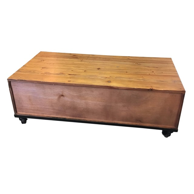 Reclaimed Wood Coffee Table - Image 4 of 7