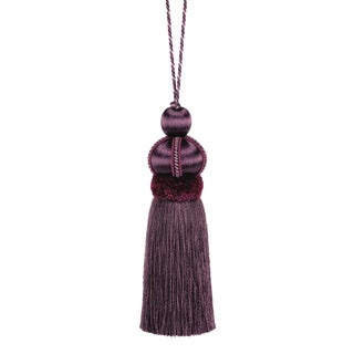 """Mulberry Key Tassel With Cut Ruche - Tassel Height 5.75"""" For Sale"""