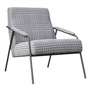 Pasargad Home Arthur Modern Posh Houndstooth Accentchair For Sale