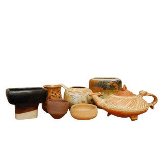 Assembled Studio Pottery - Set of 7 For Sale