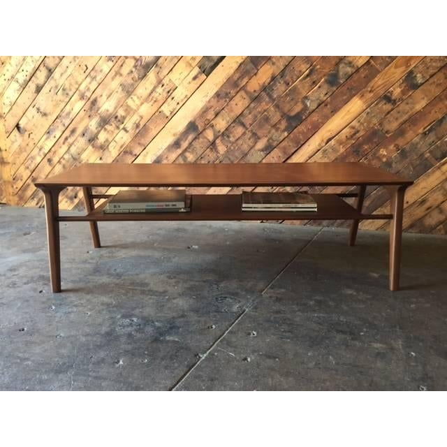 Drexel-Style Walnut Coffee Table - Image 6 of 6