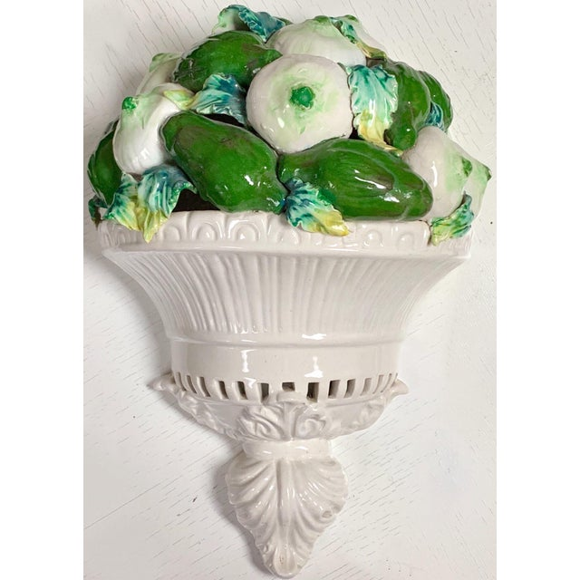 1960s Italian Wall Pocket With Artichokes For Sale - Image 5 of 5