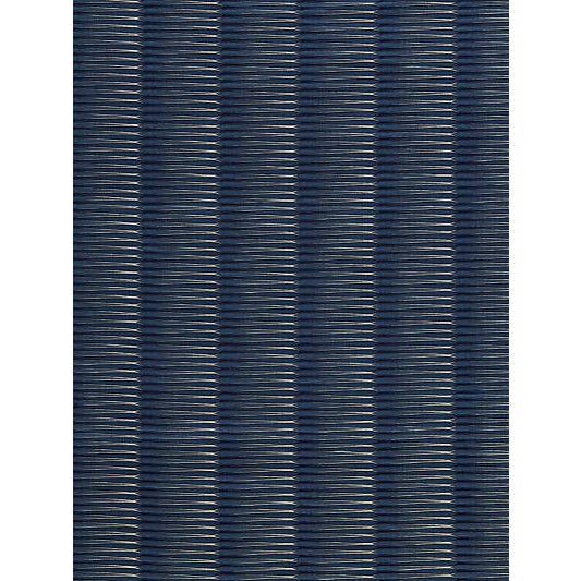 Traditional Scalamandre Wavelength Jacquard, Indigo Fabric For Sale - Image 3 of 3