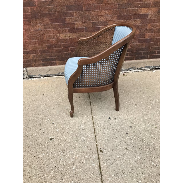Vintage Cane Barrel Chairs - A Pair For Sale - Image 5 of 5