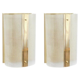 Pair of Strutturato Sconces / Flush Mounts by Fabio Ltd For Sale