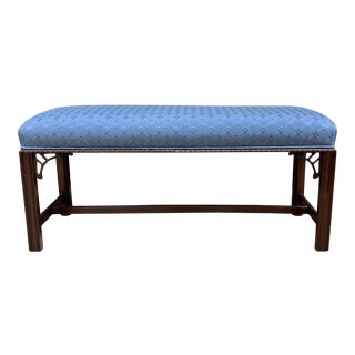 S.F. Design Center Wood + Fabric Bench For Sale