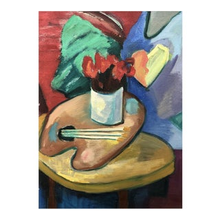 Daniel a Bottero [1950- ] Argentine Artist : Composition With Flowers, 1989. For Sale