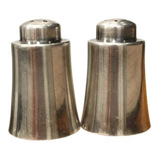 1920s Art Deco WM. A. Rogers Silver-Plated Salt and Pepper Shakers - a Pair