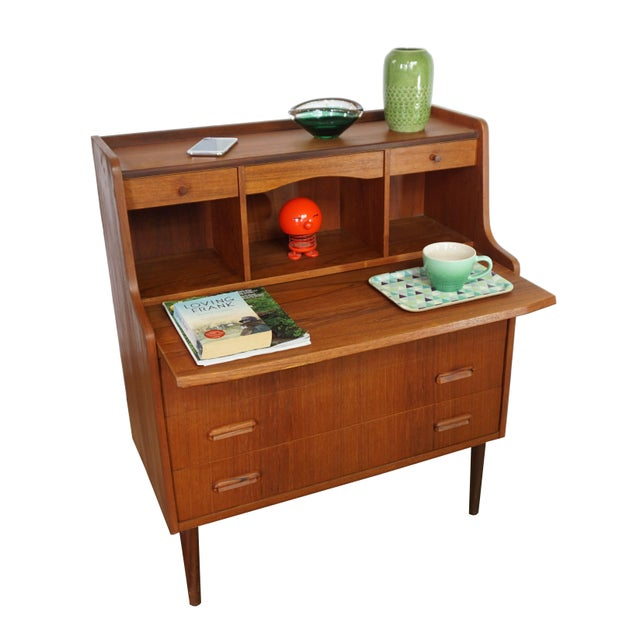 Danish Secretary Desk / Dresser - Image 5 of 8