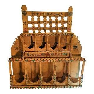 Antique Folk Art Bulgarian Gypsy Caravan Shelf Display For Sale