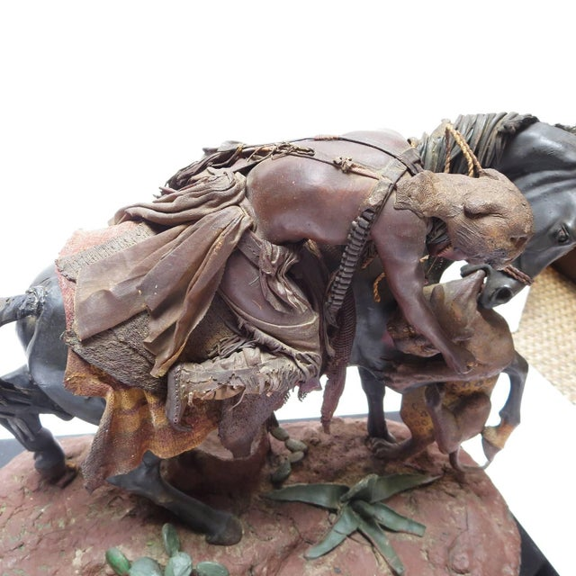 Native American Native American Beeswax Sculpture by Francisco Vargas Sr. From Bob Hope Estate For Sale - Image 3 of 10