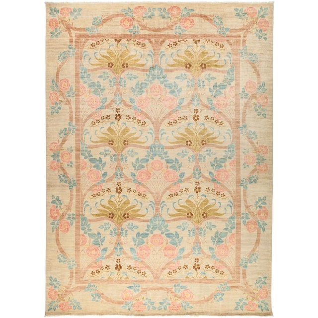 """Arts & Crafts Hand-Knotted Wool Rug - 9'10"""" X 13'5"""" For Sale - Image 4 of 4"""