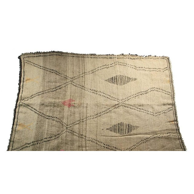 "Moroccan Vintage Beni Ourain Rug - 5'10"" X 8'5"" - Image 3 of 4"